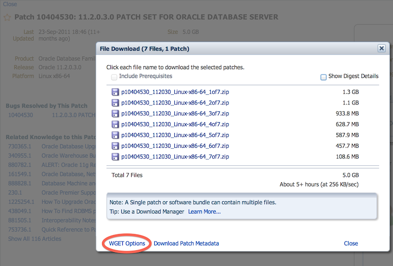 oracle patch  wget